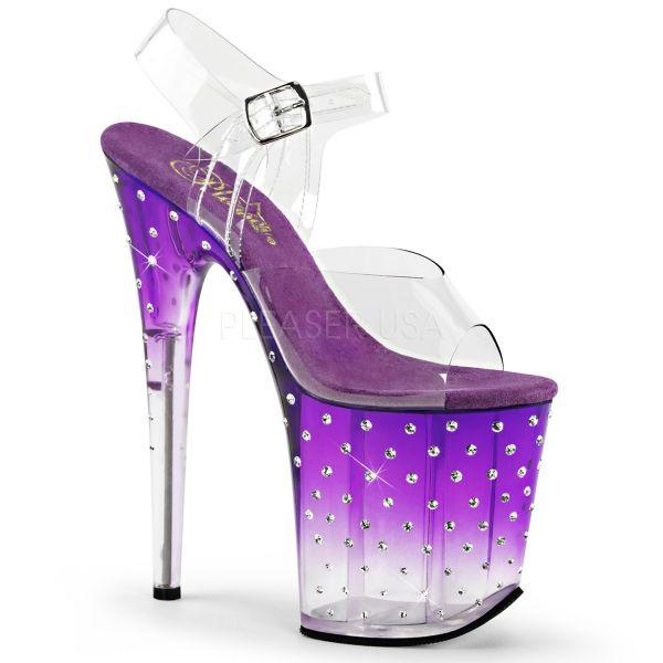 Sandalette mit lila Farbverlauf und zahlreichen Strass-Steinen STARDUST-808T